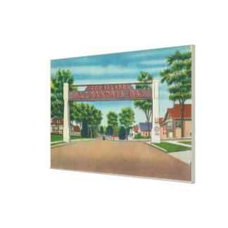 Entrance to Alexandria Bay View Canvas Print