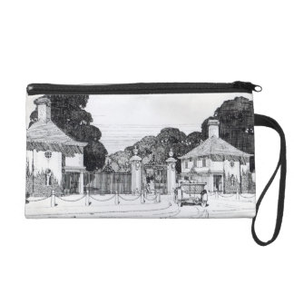 Entrance to Brooklandwood, Baltimore, USA, from Th Wristlet Clutch