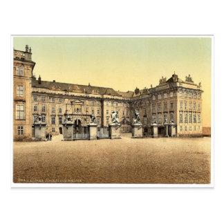 Entrance to castle, Prague, Bohemia, Austro-Hungar Postcard