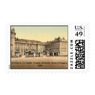 Entrance to castle,Prague, Bohemia, Austro-Hungary Postage