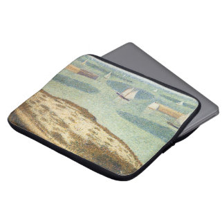 Entrance to Harbor by Georges Seurat, Vintage Art Laptop Sleeve