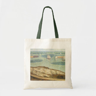 Entrance to Harbor by Georges Seurat, Vintage Art Tote Bag