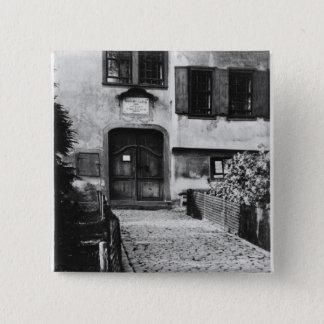 Entrance to Johann Sebastian Bach's  house Button