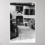 Entrance to Johann Sebastian Bach's  house Poster