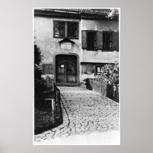 Entrance to Johann Sebastian Bach's  house Print
