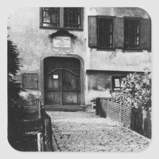 Entrance to Johann Sebastian Bach's  house Square Sticker