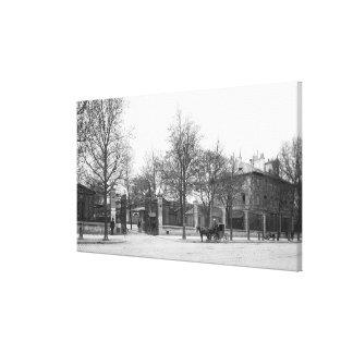 Entrance to 'La Halle aux Vins' Quai Canvas Print