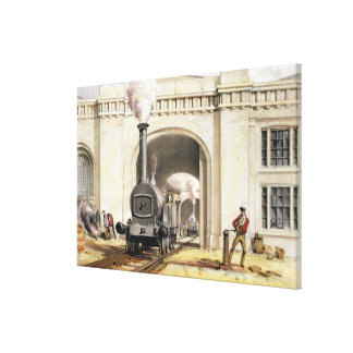 Entrance to Locomotive Engine House, Camden Town, Canvas Print