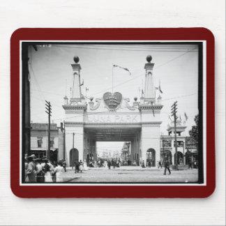 Entrance to Luna Park, Coney Island, N.Y. c1905 Mousepads