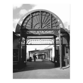 Entrance to North Pier B/W Postcard