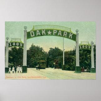 Entrance to Oak Park View Posters