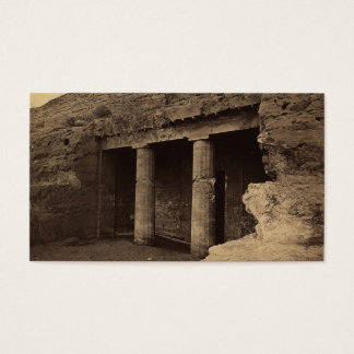 Entrance to Painted Tombs, Egypt circa 1856 Business Card