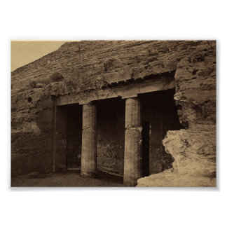 Entrance to Painted Tombs, Egypt circa 1856 Poster