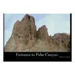 Entrance to Palm Canyon Posters