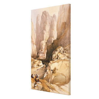 Entrance to Petra, March 10th 1839, plate 98 from Canvas Prints
