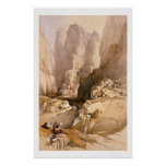 Entrance to Petra, March 10th 1839, plate 98 from Poster