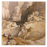 Entrance to Petra, March 10th 1839, plate 98 from Tile