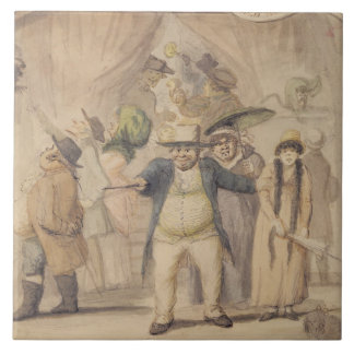 Entrance to Pidcock's Exhibition Tent at a Fair (p Ceramic Tile