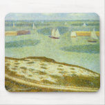 Entrance to Port-en-Bessin by Georges Seurat Mouse Pad