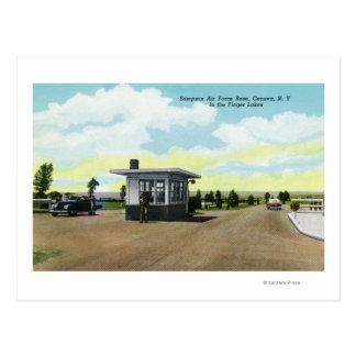 Entrance to Sampson Air Force Base View Postcard