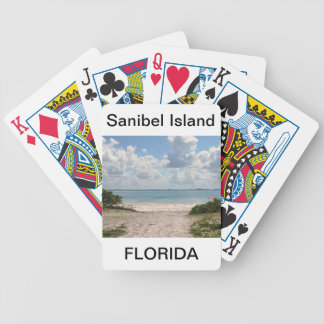 Entrance to Sanibel Beach Bicycle Playing Cards