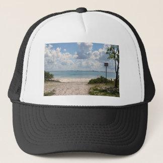 Entrance to Sanibel Beach Trucker Hat