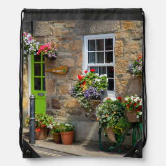 Entrance to Smugglers Bed and Breakfast Drawstring Bag