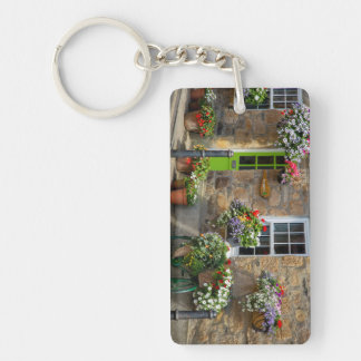 Entrance to Smugglers Bed and Breakfast Keychain