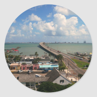 Entrance to South Padre Island Classic Round Sticker