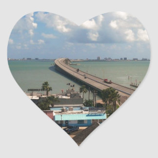 Entrance to South Padre Island Heart Sticker