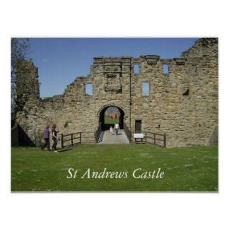 Entrance to St Andrews Castle Poster