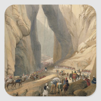 Entrance to the Bolan Pass from Dadur, from 'Sketc Square Sticker