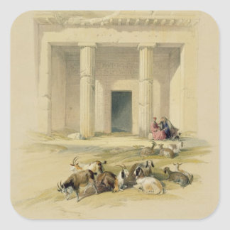 """Entrance to the Caves of Bani Hasan, from """"Egypt a Square Sticker"""