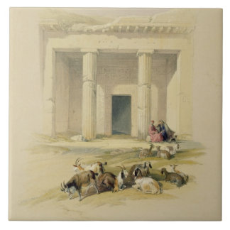 """Entrance to the Caves of Bani Hasan, from """"Egypt a Tile"""