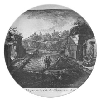 Entrance to the city of Pompeii with the existing Plate
