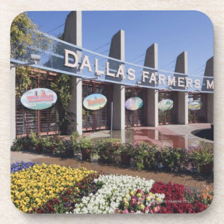 Entrance to the Dallas Farmers Market Drink Coaster