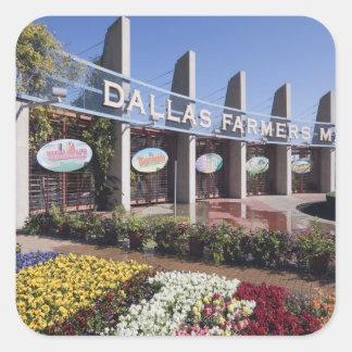 Entrance to the Dallas Farmers Market Square Sticker