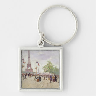 Entrance to the Exposition Universelle, 1889 Keychain