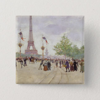 Entrance to the Exposition Universelle, 1889 Pinback Button