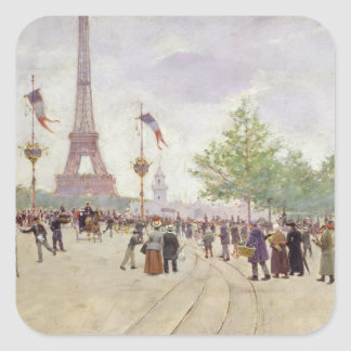 Entrance to the Exposition Universelle, 1889 Square Sticker