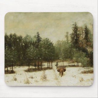 Entrance to the Forest in Winter Mouse Pad