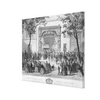 Entrance to the 'Grand Cafe Parisien', Paris Canvas Print