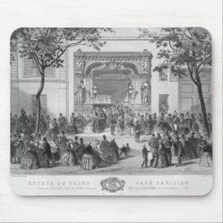 Entrance to the 'Grand Cafe Parisien', Paris Mouse Pad