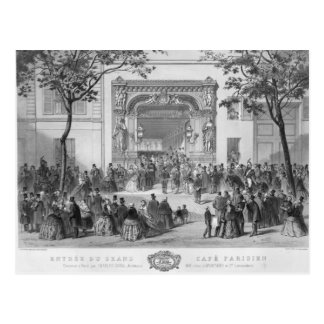 Entrance to the 'Grand Cafe Parisien', Paris Postcard
