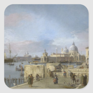 Entrance to the Grand Canal by Canaletto Square Sticker