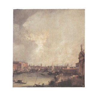 Entrance To The Grand Canal Looking East Canaletto Notepad