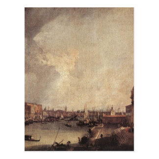 Entrance To The Grand Canal Looking East Canaletto Postcard