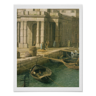 Entrance to the Grand Canal: Looking West, c.1738- Poster