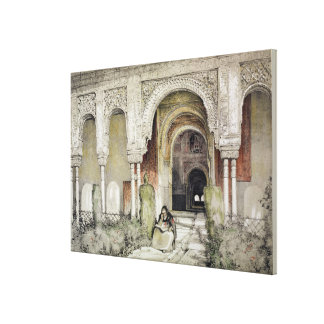 Entrance to the Hall of the Two Sisters (Sala de l Canvas Print