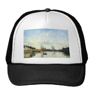 Entrance to the harbor by Eugene Boudin Trucker Hat